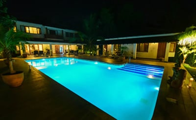 NIght View Of Pool In Hams villa